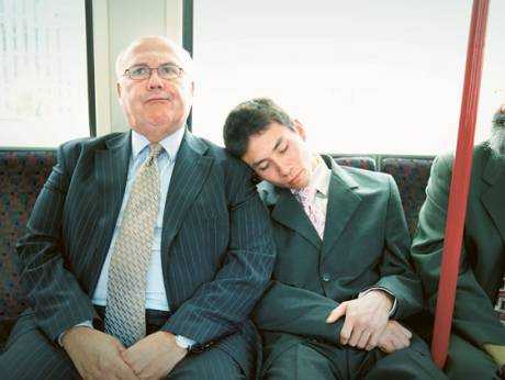 types of people you will see in the metro sleeping beauty