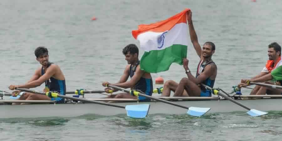 Indian rowing team - Quadruple sculls