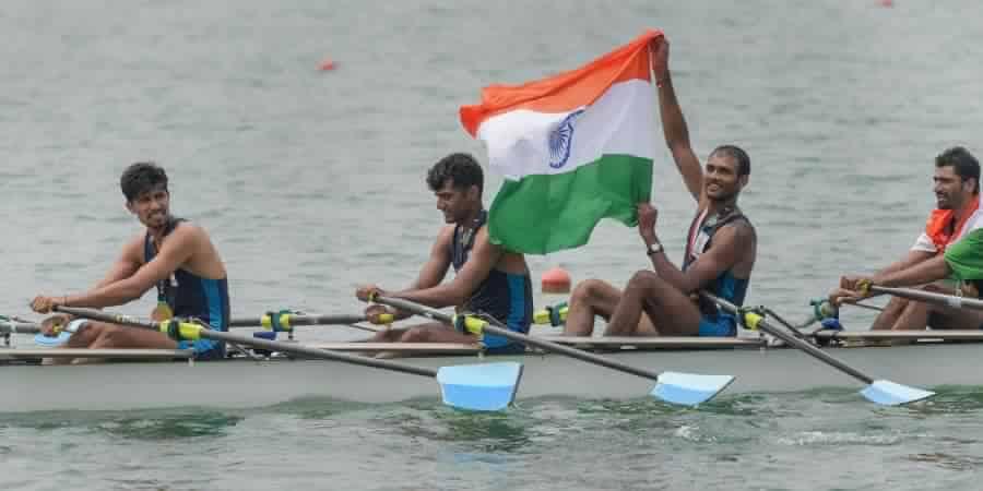 Indian rowing team -Quadruple sculls