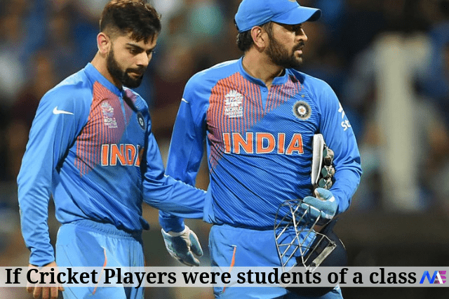 If cricket players were students of a class