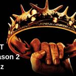 Game of thrones season 2 quiz