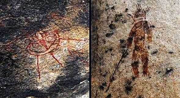 alien rock painting charama mystery