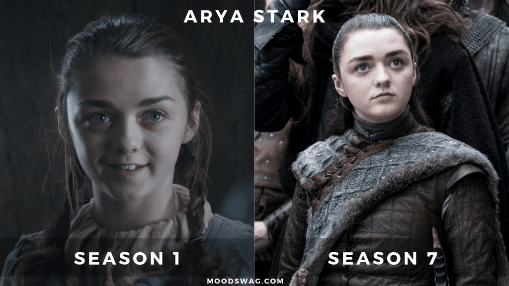 Arya Stark Then Vs Now