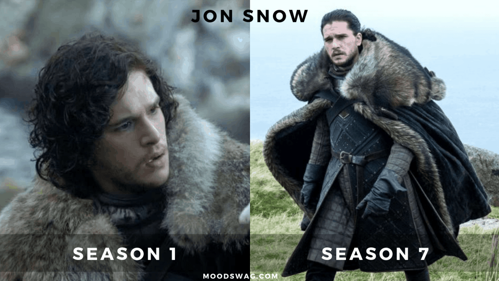 jon snow then vs now