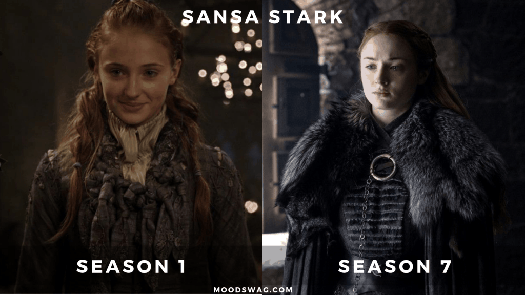 Sansa Stark Then Vs Now