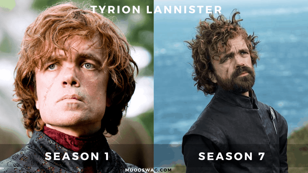 Tyrion Lannister then vs now