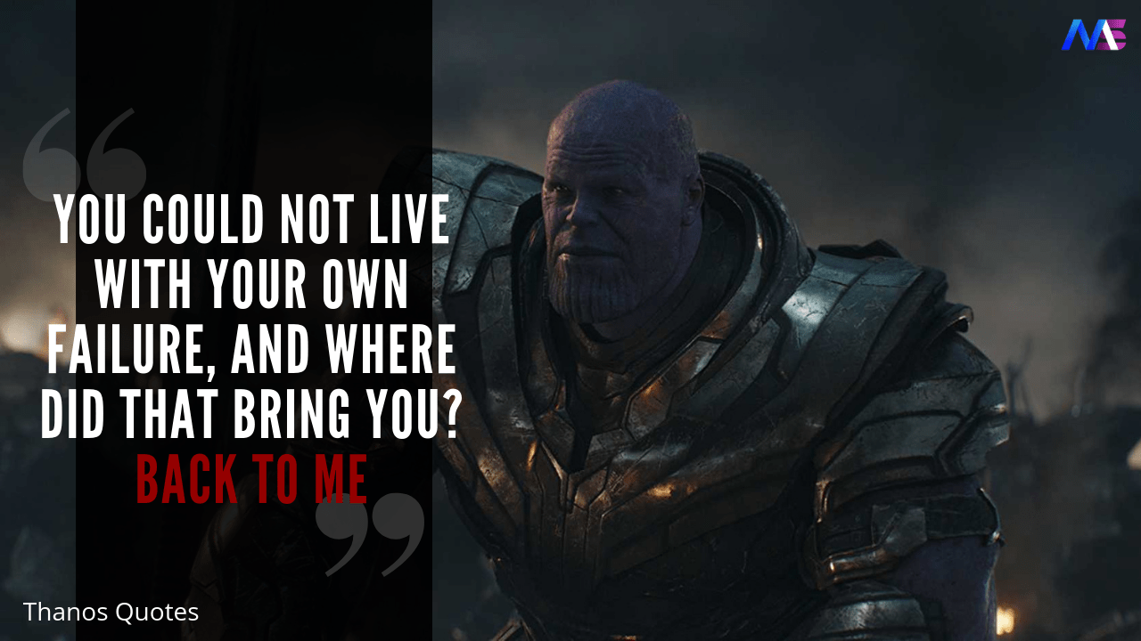 Thanos Quotes