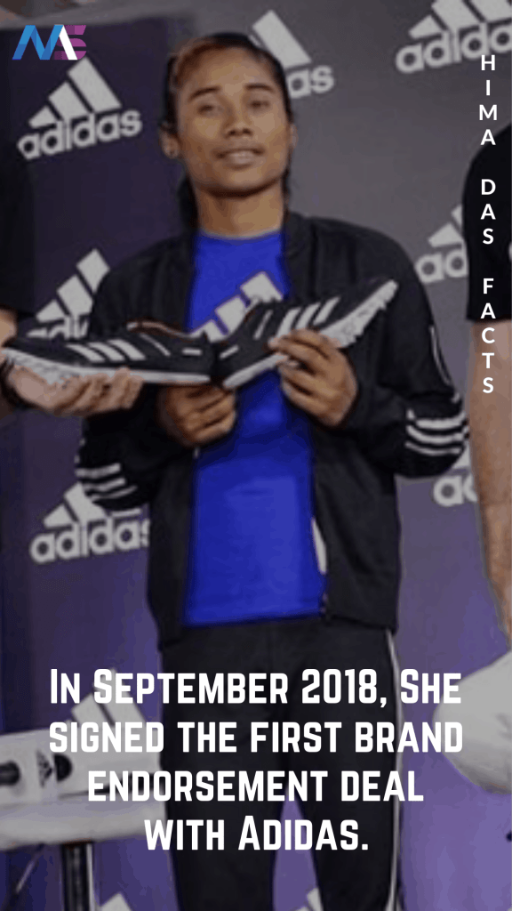 Hima Das Adidas sponsorship