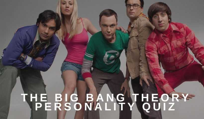The big bang theory Personality quiz