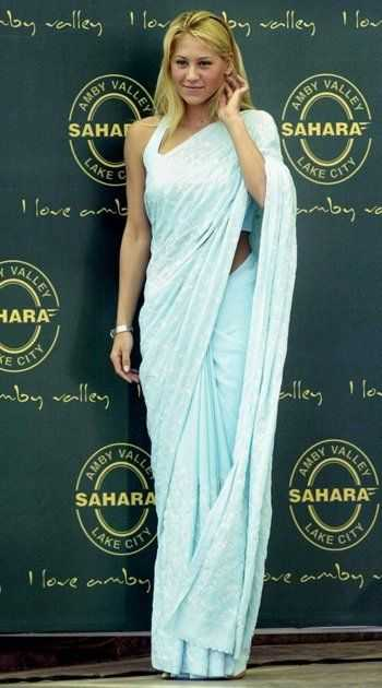 Anna Kournikova in saree