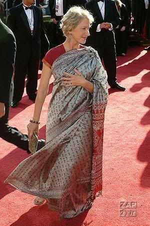 Helen Mirren in Saree