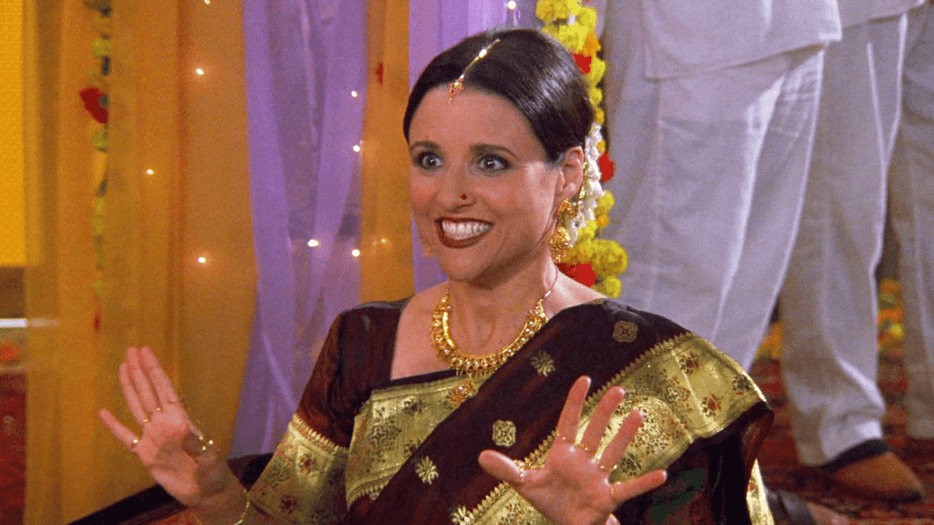 Julia Louis Dreyfus in saree