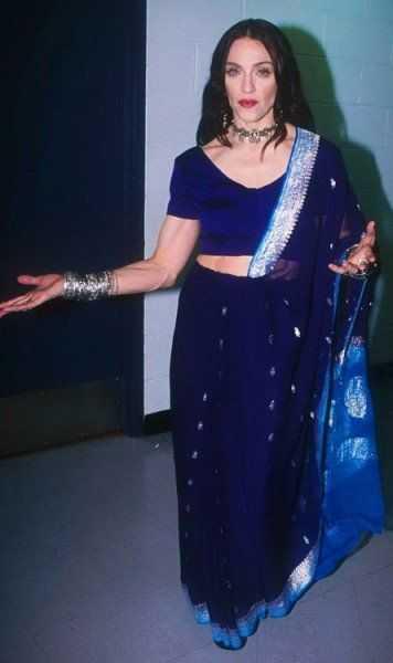 Madonna in Saree