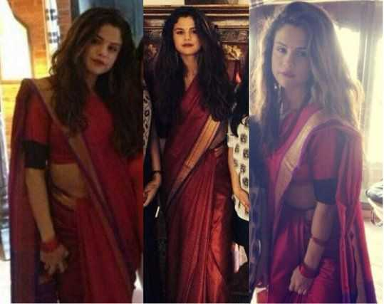 Selena Gomez in Saree