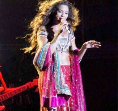 beyonce in Lehnga
