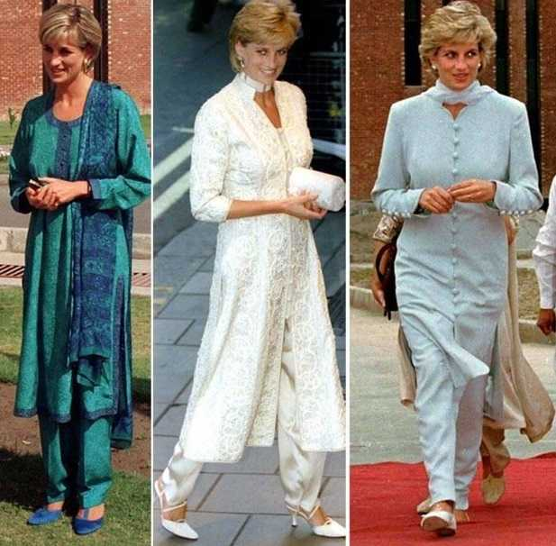 Princess Diana in salwaar kameez
