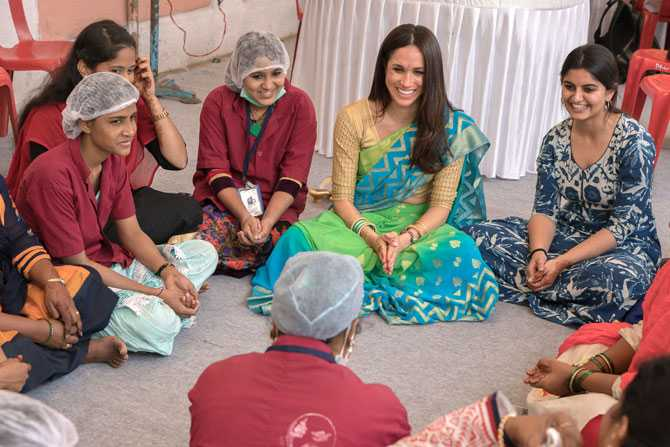megan markle in saree
