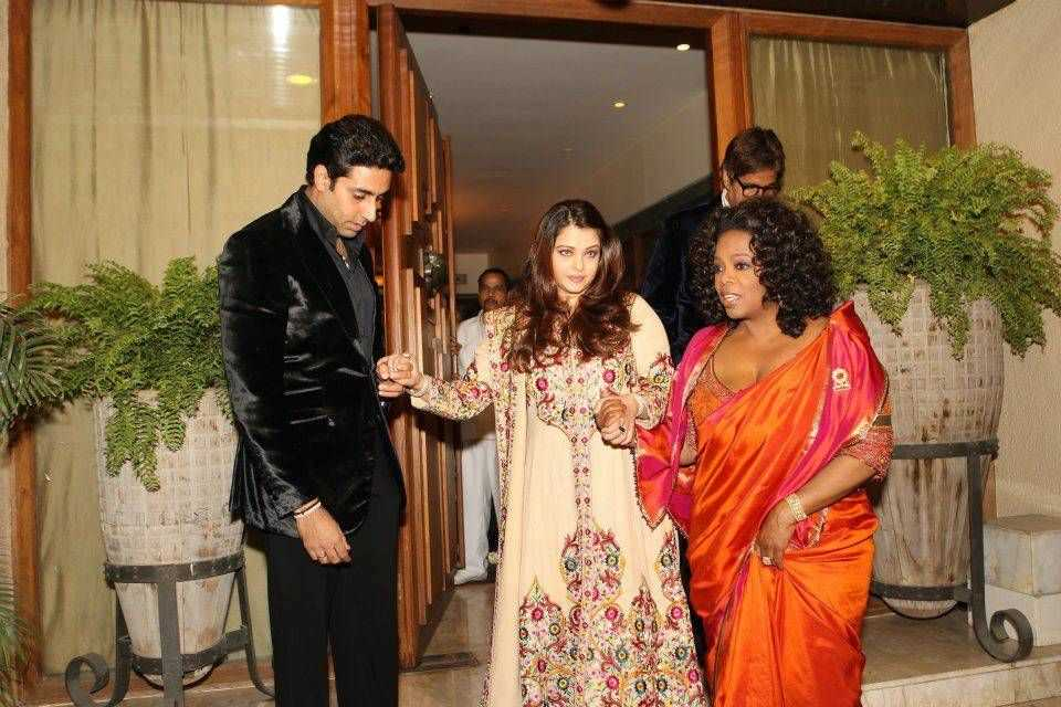 oprah in saree