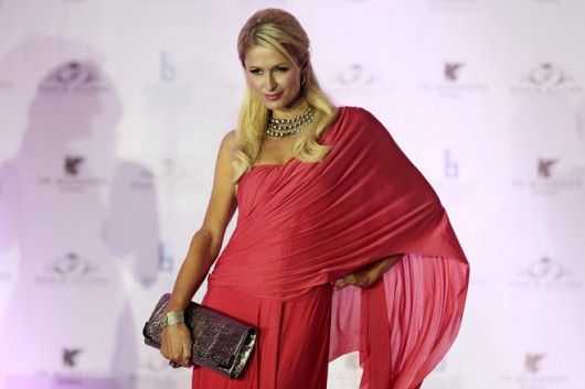 paris hilton in saree