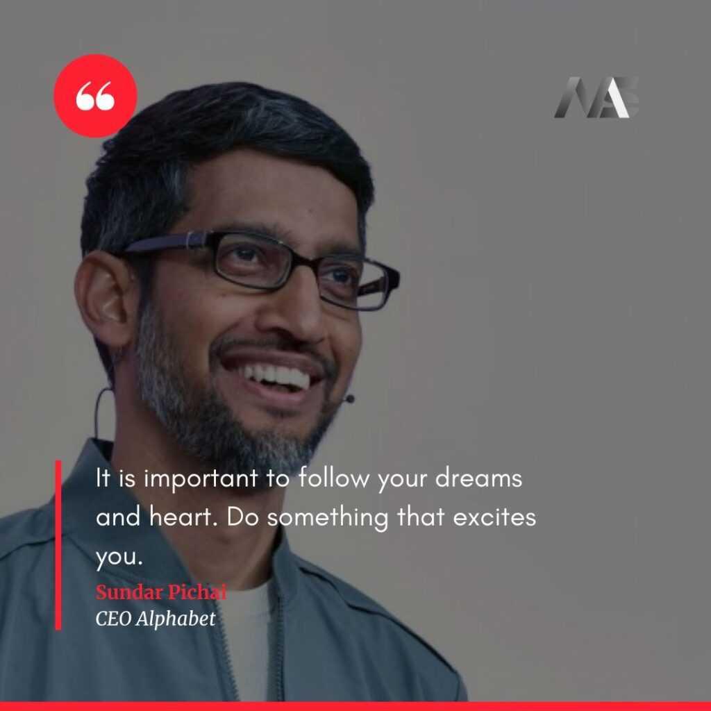 Sundar Pichai Quotes Wallpaper